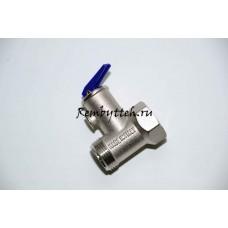 Клапан предохранительный с рычажком для всех водонагревателей с резьбой  ¾